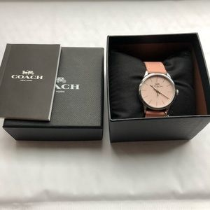 NWT Authentic Coach blush pink/silver Watch